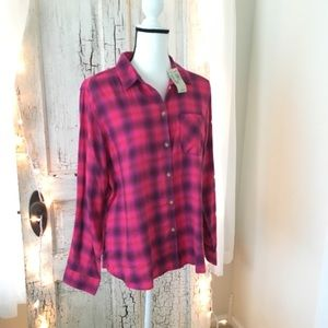 american eagle outfitters | nwt pink flannel
